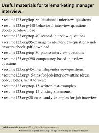 Telemarketing Resume Job Description by Top 8 Telemarketing Manager Resume Samples