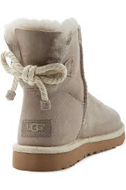 womens ugg selene mini boot ugg selene suede boots in gray lyst