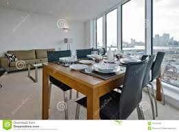 living room with dining table set up royalty free stock photo