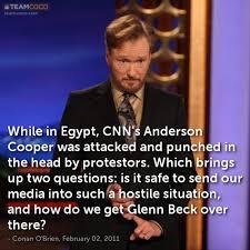 Anderson Cooper Meme - joke while in egypt cnn s anderson cooper was attacked conan