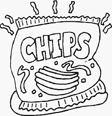 coloring pages of food coloring pages snack coloring pages food 5 snack coloring pages