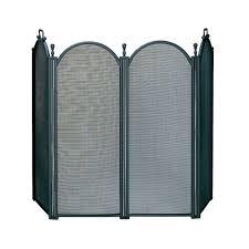 pleasant hearth black steel 1 panel fireplace screen fa342s the