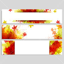 creative website headers or banners set for happy thanksgiving day