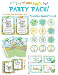 oh the places you ll go party oh the places you ll go party pack invitation banner