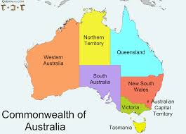 Australian States Map by Lessons Tes Teach