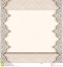 Borders For Invitation Cards Free Vintage Paper Background With Lace Borders Stock Vector Image
