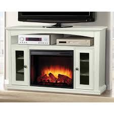 pleasant hearth easton 52 in media electric fireplace in white