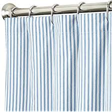 Amazon Extra Long Shower Curtain Amazon Com Extra Long Shower Curtain Fabric Shower Curtains Blue