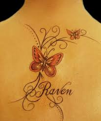 fascinating tattoos fancy lines and butterflies name