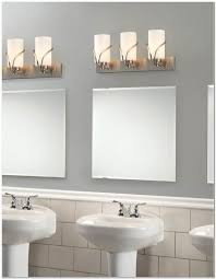 gray wall paint mirrors wall lamps washbasin with pedestal