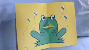 how to make frog pop up card handmade new year card pop up