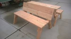 Convertible Picnic Table Bench How To Make A Diy Convertible Picnic Table That Folds Into A Bench