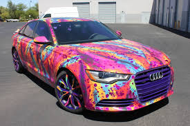 pink audi a6 audi a6 mister tony incognito wraps