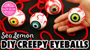 diy creepy eyeballs with sea lemon hgtv handmade youtube