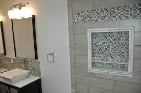 20x20 window frame style marble niche with shelf for soap and