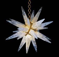 Light Crystal Chandelier Rock Crystal Star Chandelier By Alexandre Vossion For Sale At 1stdibs