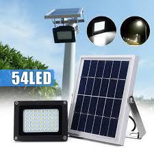 solar powered sensor security light 54led waterproof solar powered sensor flood light garden security