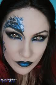 Spider Halloween Makeup Make Up Artist Me Blue Secret Blue Masquerade Makeup Tutorial