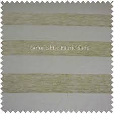 Textured Chenille Upholstery Fabric Broad Stripe Pattern Natural Beige Colour Texture Chenille