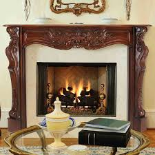 58 u0027 u0027 deauville fruitwood finish fireplace surround by pearl