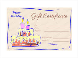 15 birthday gift certificate templates free sle exle