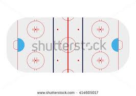 stylized ice hockey ground showing all stock illustration 54842737