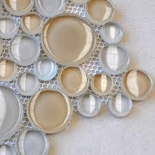 penny round glass tile backsplash ideas bathroom floor circle