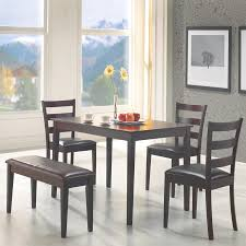 shop coaster fine furniture cappuccino dark brown 5 piece dining coaster fine furniture cappuccino dark brown 5 piece dining set with dining table