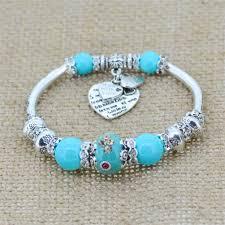 glass beads bracelet images Fashion silver plated jewelry love heart charm bracelets bangles jpg