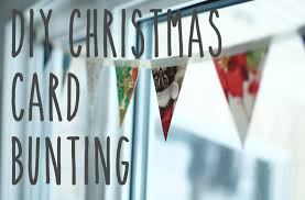 diy bunting out of recycled christmas cards youtube