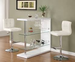 White Leather Bar Stool Awesome Home Furniture Decor Feat Pub Table Set Design With