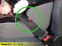siege auto groupe 2 et 3 installation du siège auto rehausseur groupes 2 et 3 jet de renolux