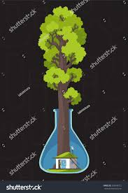 house planet save forest planet family house under stock vector 266548721