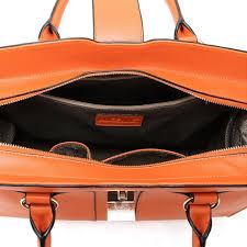 Cowhide Leather Purses Leather Handbag Orange