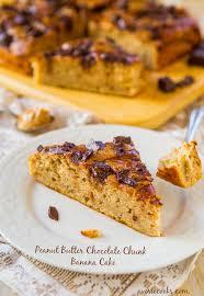 peanut butter chocolate chunk banana cake averie cooks