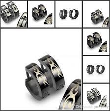 mens earring styles 2018 2014 vintage black earring jewelry stainless steel ear stud