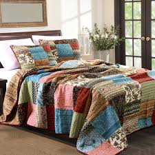 new bohemian patchwork bedspread set