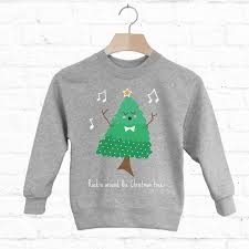 rockin around the christmas tree kids sweatshirt by batch1