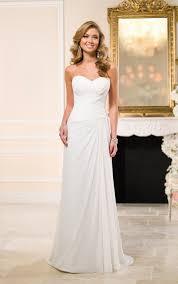 Chiffon Wedding Dresses Traditional Chiffon Sheath Bridal Gown Stella York Wedding Dresses