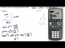 trig ratios soh cah toa find missing angle using inverse