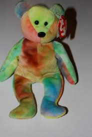 peace bear ty beanie babies every kid wanted one of these