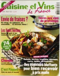 journal de cuisine abonnement cuisine et vins de magazine revue cuisine et
