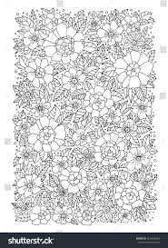 forest flowers vector coloring book pages stock vector 324464054
