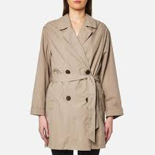 selected femme selected femme women s laureen trench jacket roasted cashew