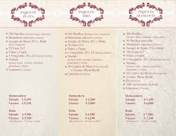quinceanera packages jasmyl banquet packages
