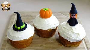 halloween pumpkin cupcake recipe youtube