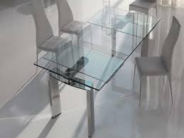 expandable glass dining room tables extendable glass dining table