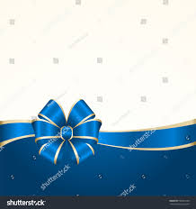 Invitation Cards Design With Ribbons Vector Invitation Card Blue Holiday Ribbon Stock Vector 662044108