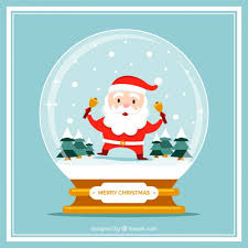 card with snowman with santa claus vector free