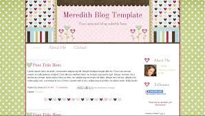 Design Blogger by Meredith Template Scrabook Style Flower Blogger Design